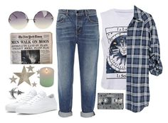 """s t a r s a n d m o o n"" by red-moon-98 ❤ liked on Polyvore featuring Vince, Alexander Wang, Linda Farrow, Slippin' Southern, Converse and CASSETTE"