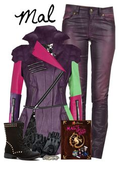 """Mal, Daughter of Maleficent"" by supercalifragilistica ❤ liked on Polyvore"