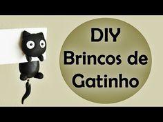 ♥ DIY: Como Fazer Brincos de Gatinho (Cat Earrings) ♥   Ideias Personalizadas…
