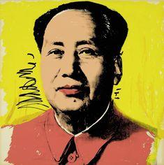 Available for sale from Pollock Fine Art, Andy Warhol, Mao 97 Silkscreen on paper, 36 × 36 in Andy Warhol Pop Art, Andy Warhol Portraits, Andy Warhol Museum, Andy Warhol Prints, Contemporary Art Gallery, Modern Pop Art, Roy Lichtenstein, Art Pop, Jeff Koons