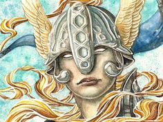 valkyrie: helm inspiration for second ascension.(helms with horns are not authentic to viking period C8th-10th, but wings might have been part of how valkyries were depicted - need to check this - shieldmaidens would not have worn them)