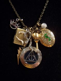 Harry Potter Horcrux charm necklace - have I pinned this already? If so, it bears repeating.