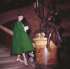 Audrey on set of funny face