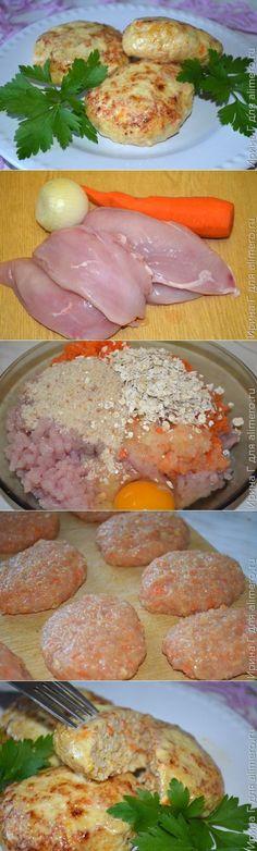 Котлетки-обманки из курицы и моркови