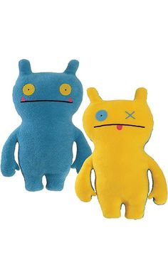 """Uglydoll Double Trouble Wage 14.25"""" Plush, Blue/Yellow Best Price"""