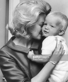 Joan Bennett Kennedy and her son Ted Kennedy Jr.