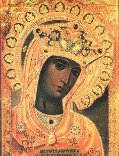 ♕ Black Madonna painted in the late nineteenth century by an unknown artist.