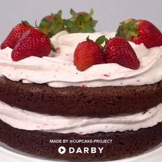 Easy Strawberry Whipped Cream Recipe for Desserts #darbysmart #diy #recipe #cake #sweets #baking