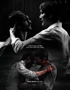 Hannibal & Will Graham (There is a train wreck located at the corner of My and Feels.)