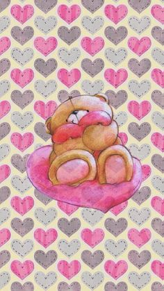 I love teddy Friends Wallpaper, Bear Wallpaper, Love Wallpaper, Pattern Wallpaper, Mobile Backgrounds, Wallpaper Backgrounds, Cellphone Wallpaper, Iphone Wallpaper, Tatty Teddy