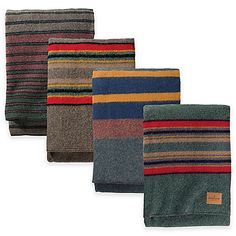 Add rugged style to any room's décor with the Pendleton Hemrich Stripe Camp Blanket. Inspired by the ombre stripe blankets cowboys carried on the backs of their saddles, the warm blanket is perfect sleeping under the stars or snuggling on the couch.