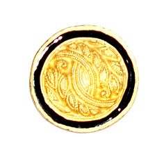 "Fancy Gold Platted Button 44L (1 1/8"")"