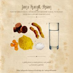 Khasiat Jamu Dan Resepnya - Page 3 Juicing For Health, Health And Nutrition, Health Tips, Healthy Style, Healthy Life, Healthy Juices, Healthy Drinks, Turmeric Drink, Health Tonic