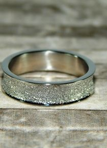 Talla 7 - Anillo lienzo de polvo de cristal Wedding Rings, Engagement Rings, Jewelry, Stainless Steel, Jitter Glitter, Silver, Crystals, Jewelery, Rings For Engagement
