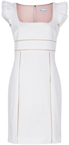Red Valentino Cap Sleeve Dress in White