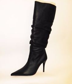 Womens black boots pointed toe real leather ROBERTO BOTELLA