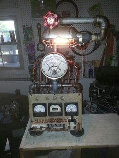 Electric panel steampunk