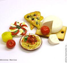 Viva Италия спагетти, пицца, томаты, сыр кукольная миниатюра - Чудеса в ладошке (Акинина Марина)