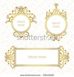 vignettes and floral border vector wedding card templates