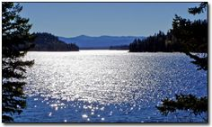 I lived on this lake for 1 month (and returned for months at a time) Payette Lake in McCall Idaho; population 2500. Every morning I would wake and walk to the lake.... ultimate breathing space.