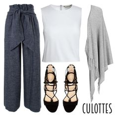 """""""Culottes"""" by mfkapocias ❤ liked on Polyvore featuring MSGM, Canvas by Lands' End, Marc Fisher, Joseph, TrickyTrend and culottes"""