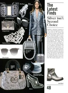 Albano's silver shoes and accessories!Choose your favorite color! Albano on vogue magazine