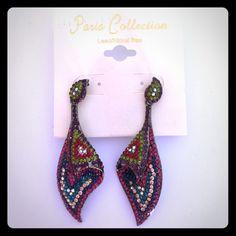 Earrings Colored rhinestone earrings Jewelry Earrings