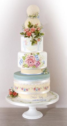 My wedding cake entry for Cake International 2014 - Gold award and best of Class - Cake by Milla