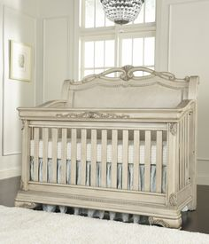 Kingsley Wessex Crib in Seashell #kingsley #crib #nursery