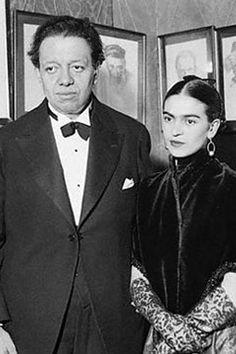 Frida Kahlo & Diego Rivera, New York, 1933.