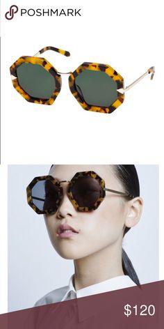 Karen walker disco moon tortoise shell sunglasses Karen walker disco moon tortoise shell sunglasses.  Retail tags in tact. Worn 2 times. Sorry no Karen walker case. Karen Walker Accessories Sunglasses