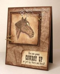 SC117 Cowboy Get Well by Jeanne S - Cards and Paper Crafts at Splitcoaststampers