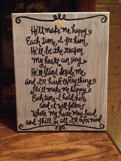 Custom quote on 11x14 by BiblebyHand on Etsy, $30.00