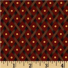 Tavern Collection Dots in Diamonds Red