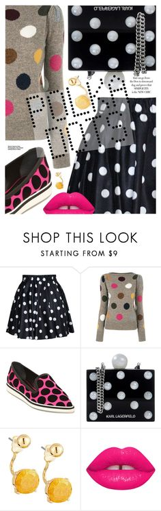 """""""Polka Dot Style"""" by cultofsharon ❤ liked on Polyvore featuring Marc Jacobs, Nicholas Kirkwood, Karl Lagerfeld, Lydell NYC, Maison Margiela and vintage"""
