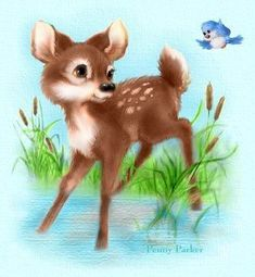 ⊹✿ Cute Drawings by Penny Parker ✿⊹ Penny Parker, Tres Belle Photo, Deer Art, Cute Clay, Cartoon Pics, Kawaii, Cute Characters, Cute Illustration, Cute Drawings