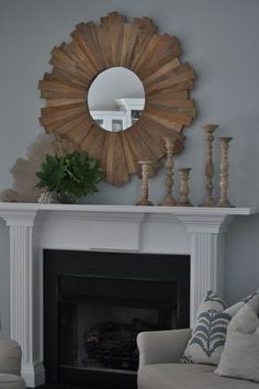 Bungalow Blue Interiors - Home - my simple summer mantle