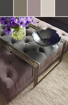 No. 6132O-1 PARIS OTTOMAN - TUFTED Designed By Baker Furniture via Stylyze