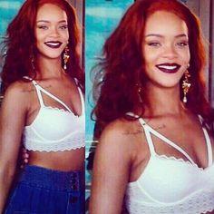 Rihanna in Cuba wearing Victoria's Secret.