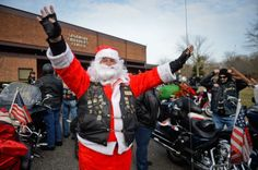 Christmas comes early for some much deserving kids. Santa bikers deliver toys to kids in psychiatric center.
