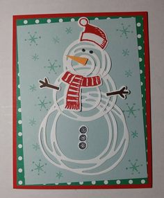 Swirly Scribbles thinlits + Snow Place stamp set