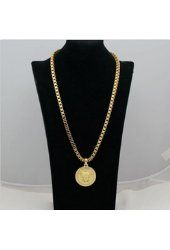 Fashion Jewelry Mens Womens Yellow Gold Filled Medusa Head Long Necklace 1X