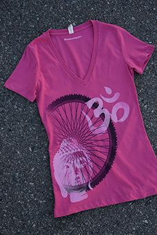 Alicia Buelow 'BUDDHA BIKE' V-neck tee: $28.00 #cycling #sport #fitness #women