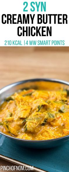 2 Syn Creamy Butter Chicken | Pinch Of Nom Slimming World Recipes 210 kcal | 2 Syns | 4 Weight Watchers Smart Points