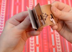Make a mini kiss flip book for Dad to keep in his wallet and carry some love with him everywhere he goes. :-)