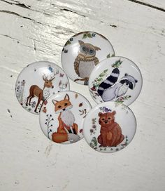 fox pin Pin back buttons pin buttons animal buttons button