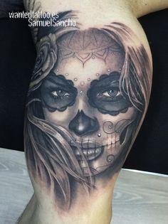 catrina biceps tattoo