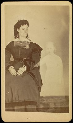 Faking It: Manipulated Photography Before Photoshop [Mrs. Tinkman with the Spirit of Her Child]