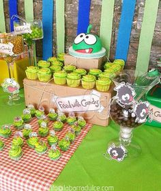 Cut the rope Om Nom party Little Girl Birthday Cakes, 2nd Birthday Parties, 7th Birthday, Cut The Ropes, Candy Buffet, 4 Kids, Party Time, Nom Nom, Birthdays