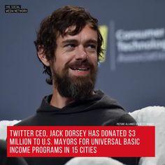 CEO of Twitter Jack Dorsey has promised to give away 1 billion. Digital News, Social Media, Twitter, Image, Wedding Ring, Social Networks, Social Media Tips
